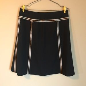 Ann Taylor Navy Blue Skirt